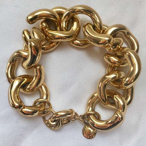 J. Crew Jewelry - J.Crew Bracelet Classic Link Chunky Gold